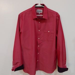 Red Express Men's Button Down with Navy M